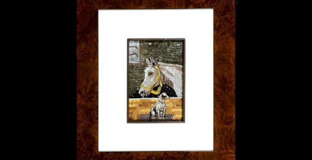 Mosaic : Cavallo e Cane 10×15