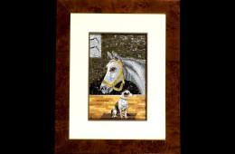 Mosaic : Cavallo e Cane 16×24