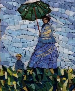Dama con bambino – Monet – 7×10