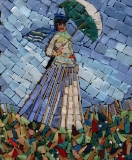 Dama con parasole – Monet – 7×10